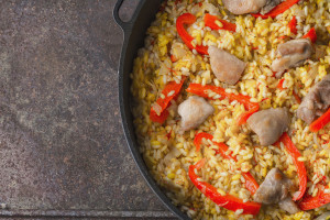 Chicken and Pepper Paella