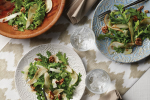 Arugula, Pear, Walnut & Pecorino Salad