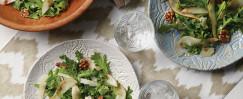 Arugula, Pear, Walnut & Pecorino Salad