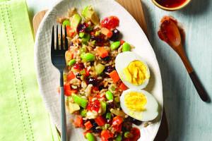Asian Edamame And Brown Rice Salad