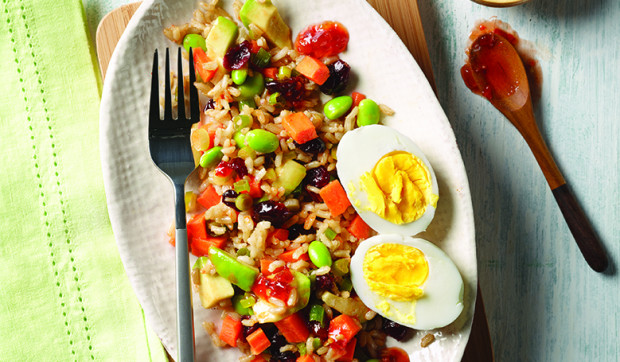 Asian Edamame And Brown Rice Salad