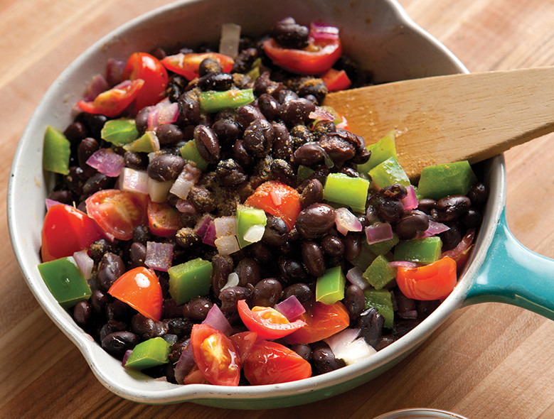 Black Beans And Tomatoes With Lime