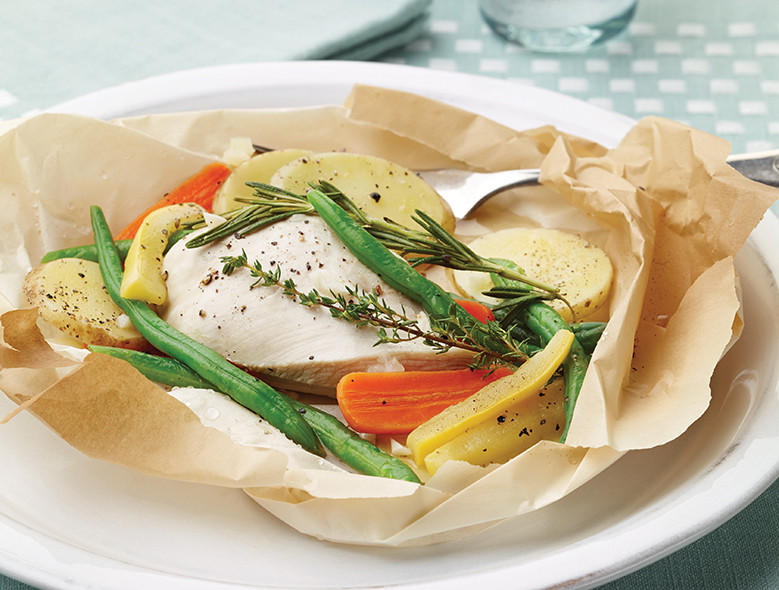 Chicken And Vegetables En Papillote