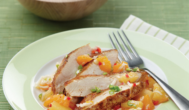 Chicken With Pineapple Mandarin Orange Salsa