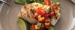 Cod With Avocado Corn Salsa Salad