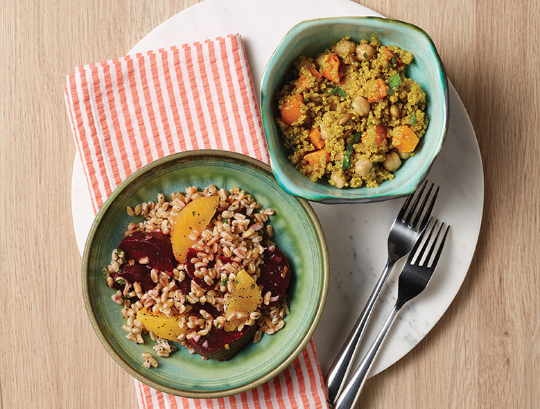 Curried Quinoa With Butternut Squash And Chickpeas