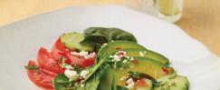 Fanned Avocado Salad
