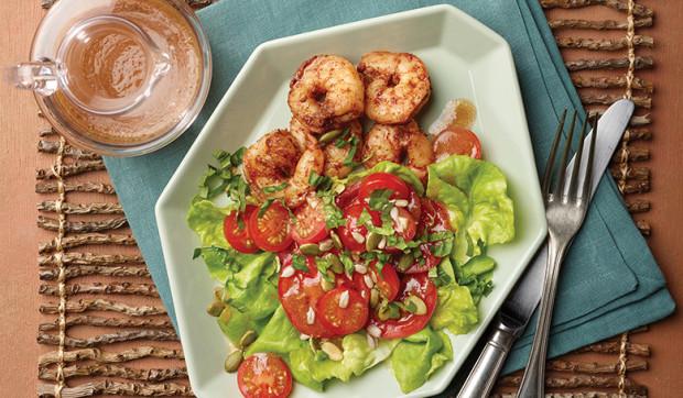 Garlicky Tomato Salad
