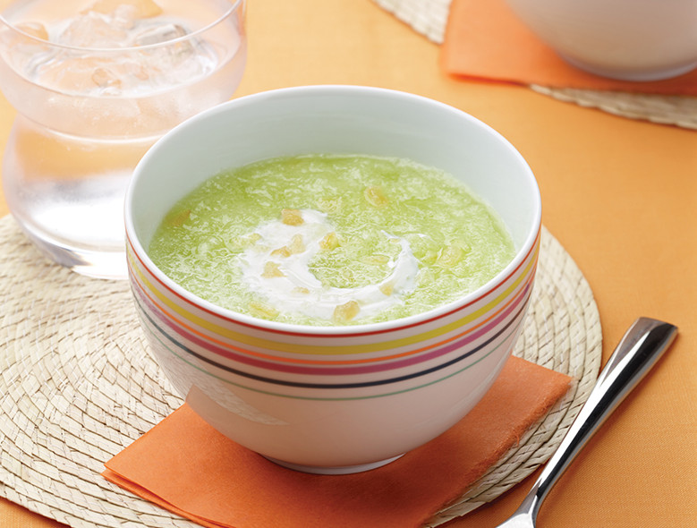 Ginger Honeydew Soup