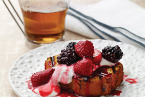 Grilled Angel Food Cake With Melted Berries