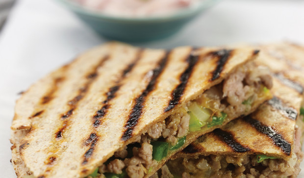 Grilled Pork and Cheese Quesadillas