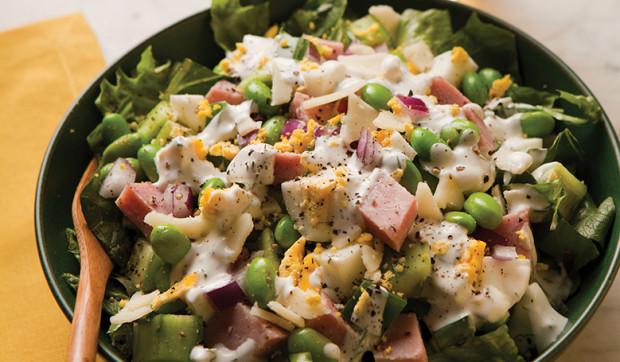 Ham and Edamame Chop Salad