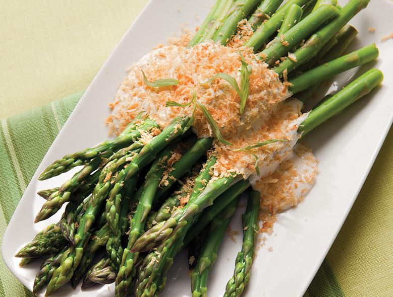 Herbed Panko Asparagus Spears