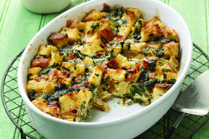 Light And Fluffy Spinach And Cheese Strata