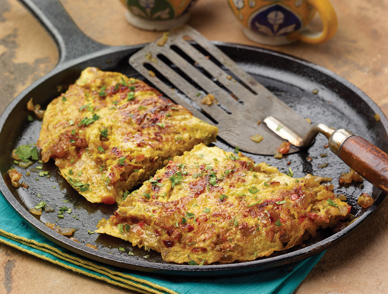 Masala Omelette with Mixed Veggies
