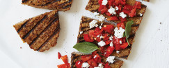 Open-Faced Grilled Pepper-Goat Cheese Sandwiches
