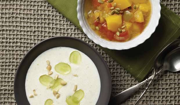 Pumpkin Chowder With Toasted Pepitas