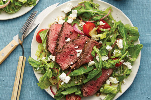 Romaine Peppercorn-Steak Salad