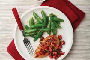 Seared Chicken With Strawberry Salsa
