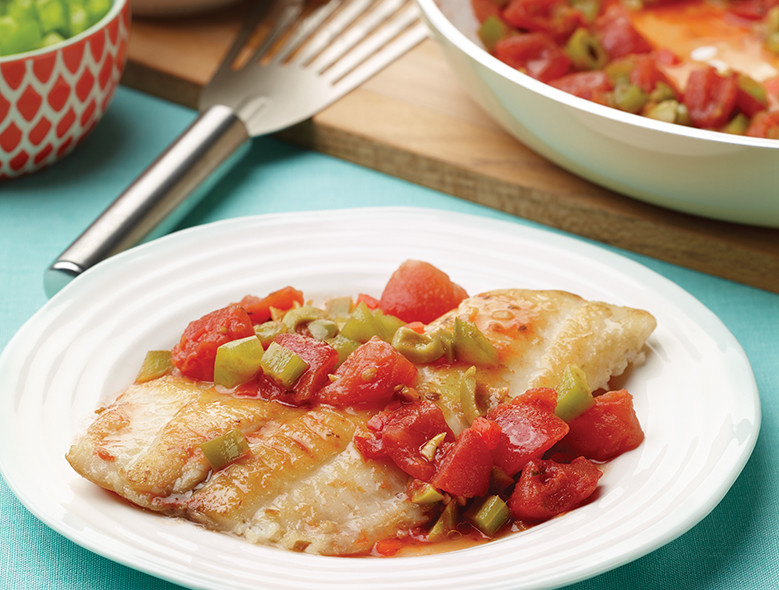 Skillet Fish With Spanish Tomatoes