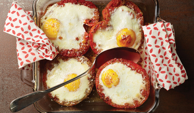 Sweet and Smoky Baked Eggs