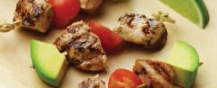 Turkey Kebabs with Avocado & Tomato