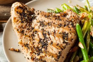 Blackened Tuna with Tangy Mustard Sauce