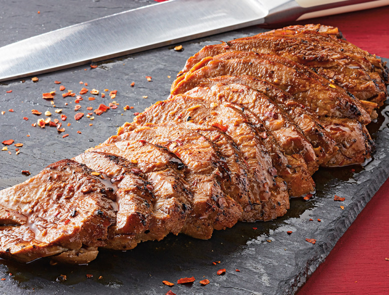 Devin Alexander's Sweet & Spicy Pomegranate Pork Tenderloin