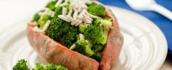 Broccoli-Stuffed Sweet Potatoes