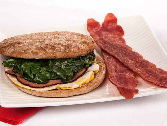Budget-Friendly Egg, Ham and Spinach Sandwich