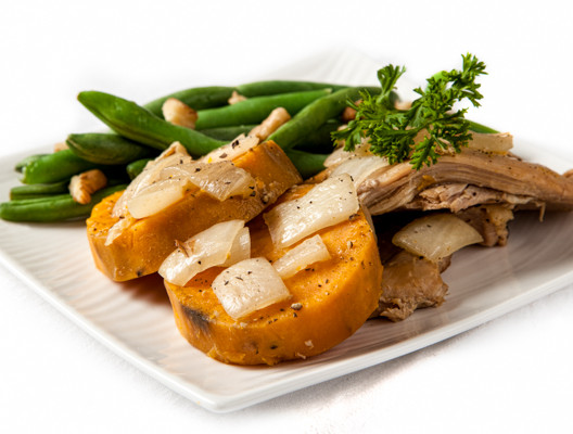 Budget-Friendly Slow-Cooker Chicken & Sweet Potatoes