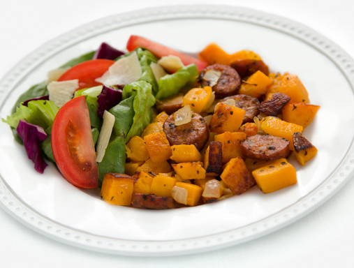Butternut Squash with Italian Sausage