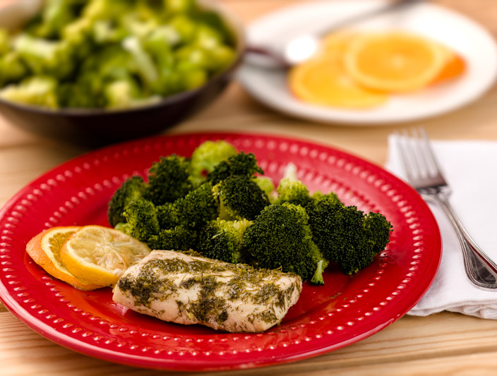 Citrus Mahi-Mahi Packet with Broccoli