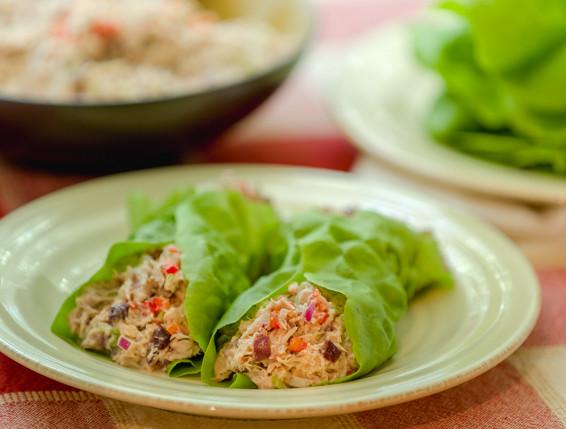 Crunchy Mediterranean Tuna Salad Wrap