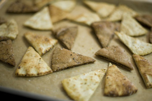 Knoflook Pita Chips