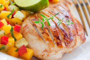 Grilled Turkey Tenderloin with Mango Salsa - Quick Recipe