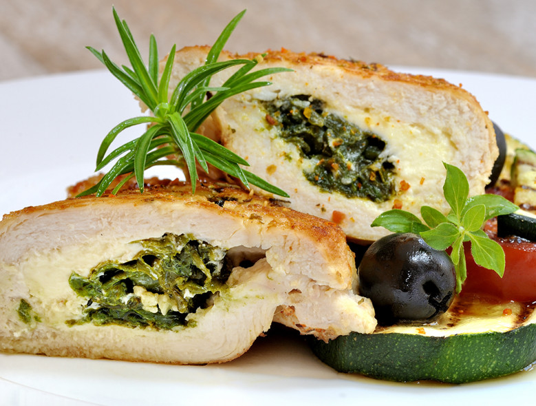 Mediterranean Stuffed Chicken and Vegetable Ragout