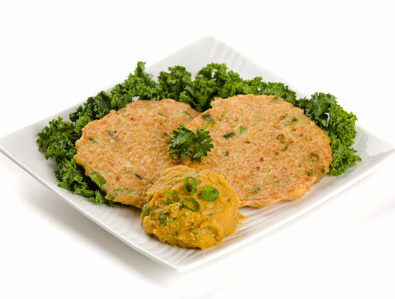 Millet Pancakes with Lentil Puree