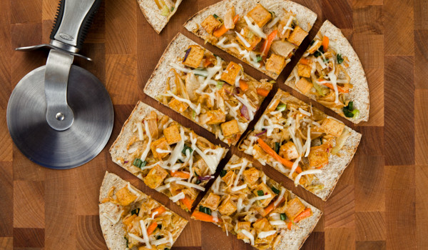 Pad-Thai Flatbread Pizza