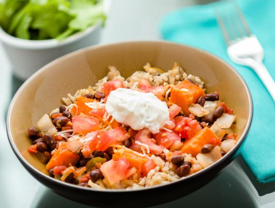 Sweet Potato Burrito Bowl