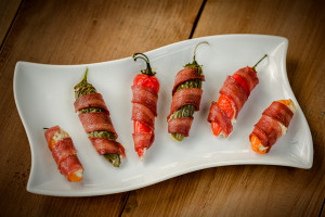 Turkey Bacon Wrapped Jalape?o Poppers