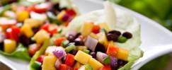 Black Bean and Mango Salsa Lettuce Wraps