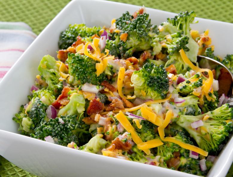 Sunflower-Broccoli Layer Salad