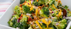 Sunflower-Broccoli Layer Salad