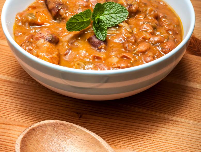 Sausage, Bean and Quinoa Soup