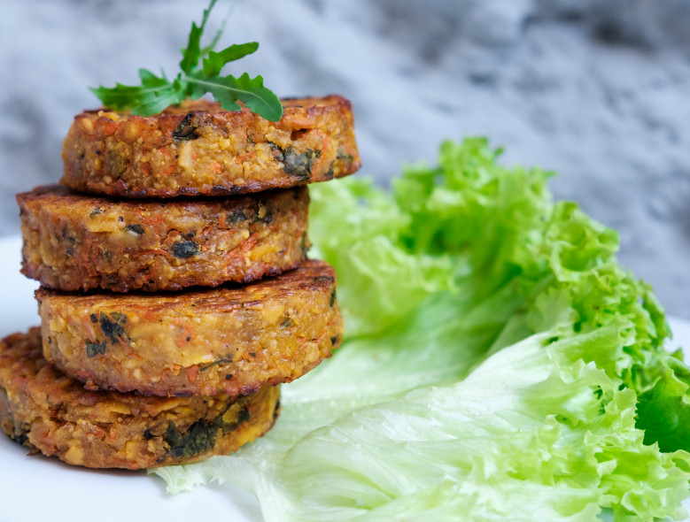 Black Bean Patties with Cilantro and Lime