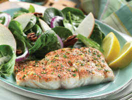 Fish Fillets with Lemon Parsley Topping