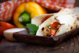 Slow-Cooker Chicken Fajita Burritos