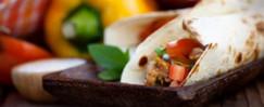 Slow-Cooker Chicken Fajita Burritos