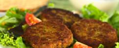 Budget-Friendly Veggie Burgers with Mango Slaw